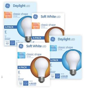 $7.99 Your Choice 4pk GE LED Bulbs