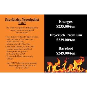 Pre-Order Woodpellet Sale!