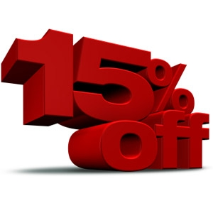 15% Active Military and First Responders Discount