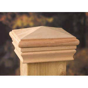 Marine Ornamental High Point Pyramid Cedar Post Cap