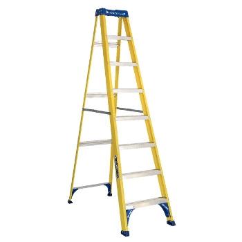 Louisville 8ft Fiberglass Commercial Step Ladder