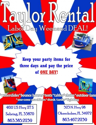 Labor Day Weekend DEAL!