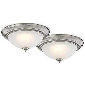 Homebasix ZD13-BR-C Ceiling Light Fixture, LED Lamp
