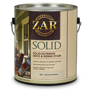 ZAR® Solid Color Deck & Siding Stain