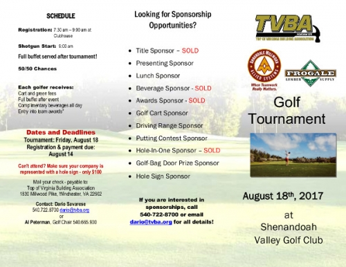 Annual TVBA Golf Tournament