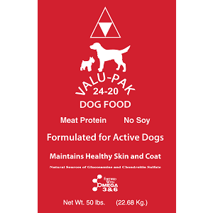 Valu-Pak 24-20 Dog Food 50 Lb.