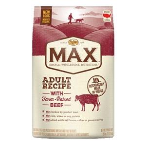Max® Farm Raised Beef & Brown Rice Adult Recipe Dog Food