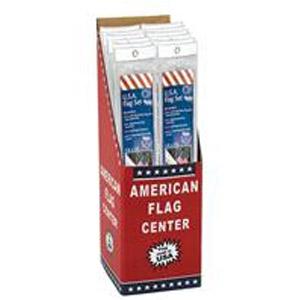3' x 5' USA Flag with 6 Steel Pole