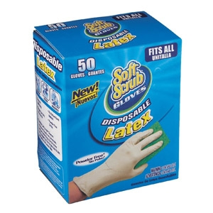 Soft Scrub Latex Disposable Gloves