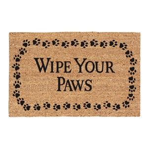 DeCoir Brush Wipe Your Paws Entrance Door Mat