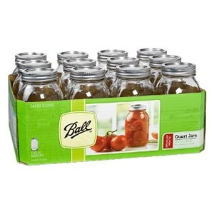 Ball® Regular Mouth Quart Mason Jars