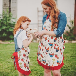 Fluffy Layers Egg Aprons & Farm Aprons for Kids & Adults