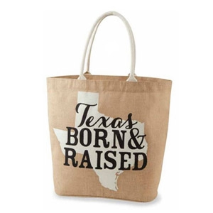 MudPie® Texas Southern State Jute Totes
