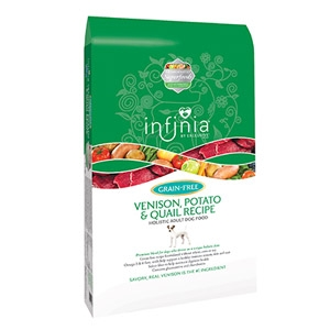 Infinia® Grain Free Venison, Potato & Quail Holistic Dog Food