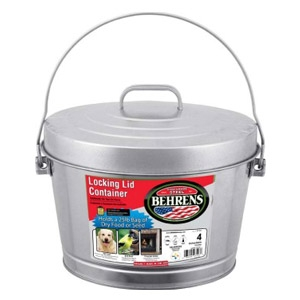 Galvanized Steel Locking 4-Gallon Can With Lid