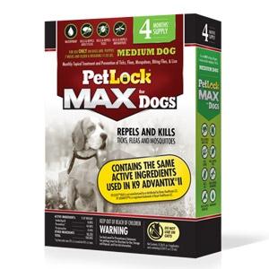 PetLock® Max Topical Flea & Tick Killer for Medium Dogs