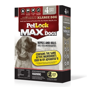 PetLock® Max Topical Flea & Tick Control for X-Large Dogs