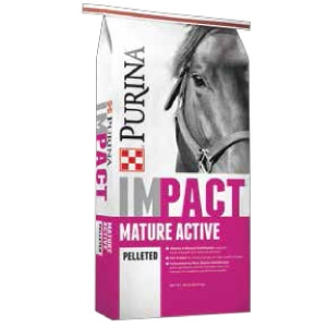 Purina® Impact® Mature Active 10% Pelleted Horse Feed