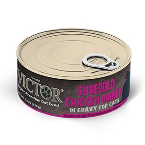 Victor® Shredded Chicken Dinner in Gravy Cat Food