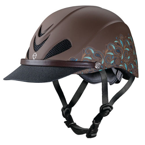 Troxel Dakota Turqoise Paisley Helmet