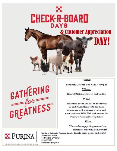 Check-R-Board Days & Customer Appreciation Day!