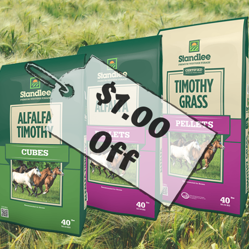 $1 Off Standlee Hay Products!