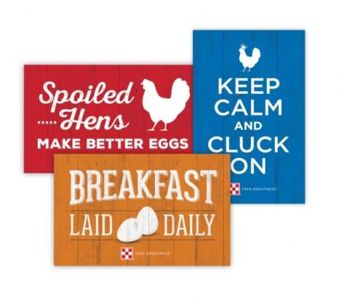 Flocktober- Free Chicken Coop Sign!