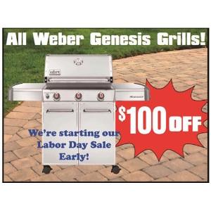 Save $100 On Weber Genesis Grills!