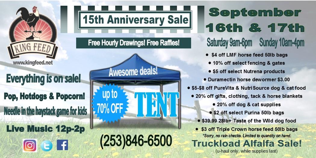 king feed anniversary sale