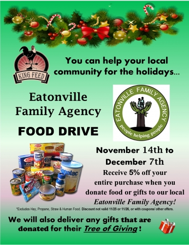Eatonville Family Agency Food Drive