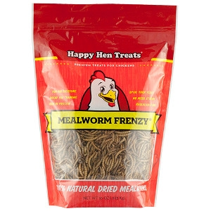 50 Cents Off Happy Hen Mealworm Frenzy 10 Oz Size