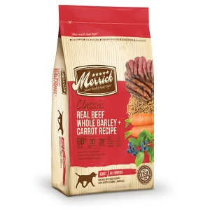 Merrick Classic ADULT Real Beef, Whole Barley and Carrots - 15 lb.