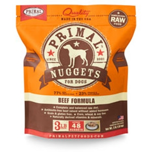Primal Canine Beef Nuggets 3Lb