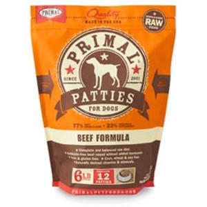 Primal Canine Beef Patties 6Lb