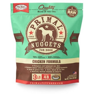 Primal Canine Chicken Nuggets 3Lb
