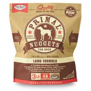 Primal Canine Lamb Nuggets 3Lb