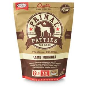 Primal Canine Lamb Patties 6Lb