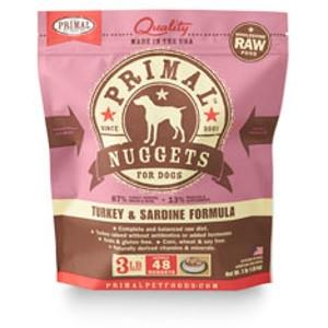 Primal Canine Turkey & Sardine Nuggets, 3Lb