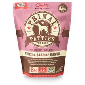 Primal Canine Turkey/Sardine Patties 6Lb