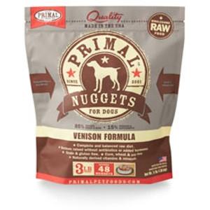 Primal Canine Venison Nuggets 3Lb