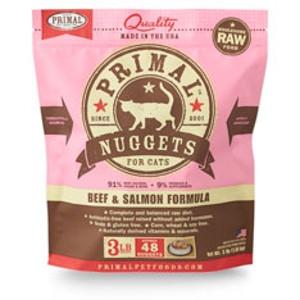 Primal Feline Beef/Salmon Nuggets 3Lb