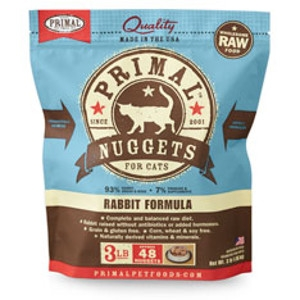 Primal Feline Rabbit Nuggets 3Lb