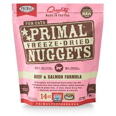 Primal Feline Beef & Salmon Freeze Dried Formula