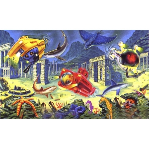 Aqua Ventures® Atlantis Background Scene 50ft x 20in Roll
