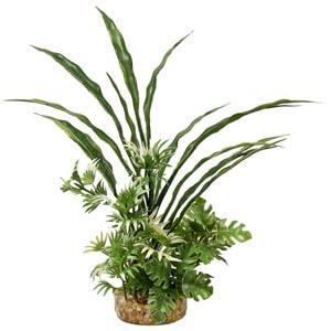 ColorBurst Florals® ColorBurst Florals® Fiesta Aqua Bush – Green