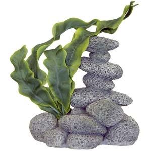 Exotic Environments® Spa Stones w/Plant B – Textured Gray