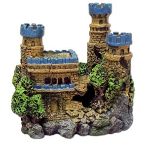 Exotic Environments® Medieval Castle With Metallic Blue Tops & Tall Towers