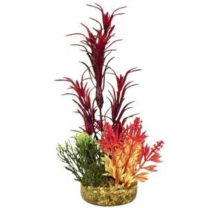 ColorBurst Florals® Gravel Base Plant – Sea Grass Bouquet Plant – Red