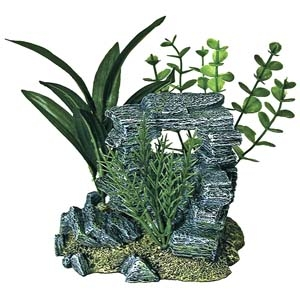 Exotic Environments® Rock Arch With Plants – Small