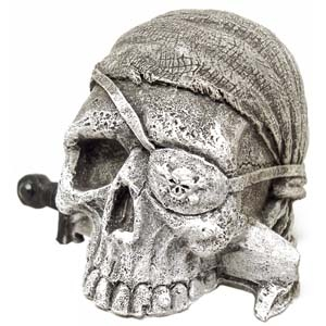 Exotic Environments® Sunken Pirate Skull Mini
